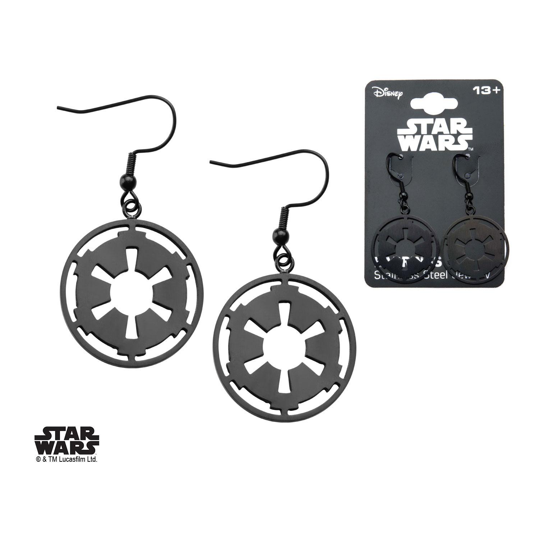 Star Wars Earrings Black Galactic Empire Symbol Animegami Store