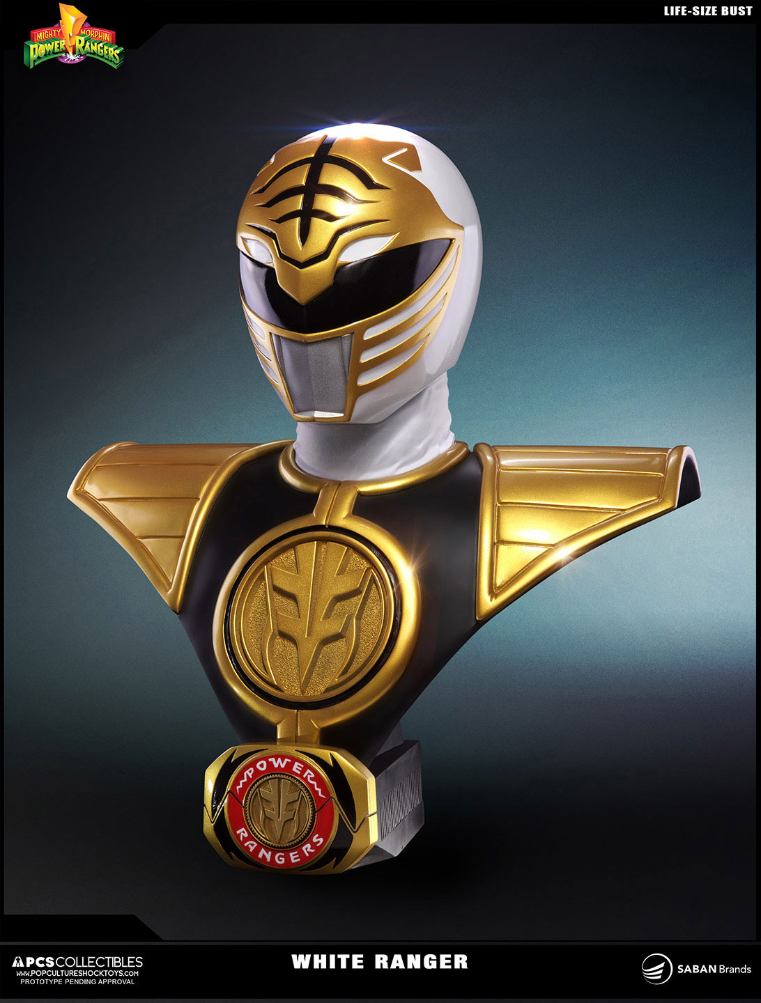Power rangers bust 11 white ranger 63 cm animegami store homeshoppower rangers buycottarizona