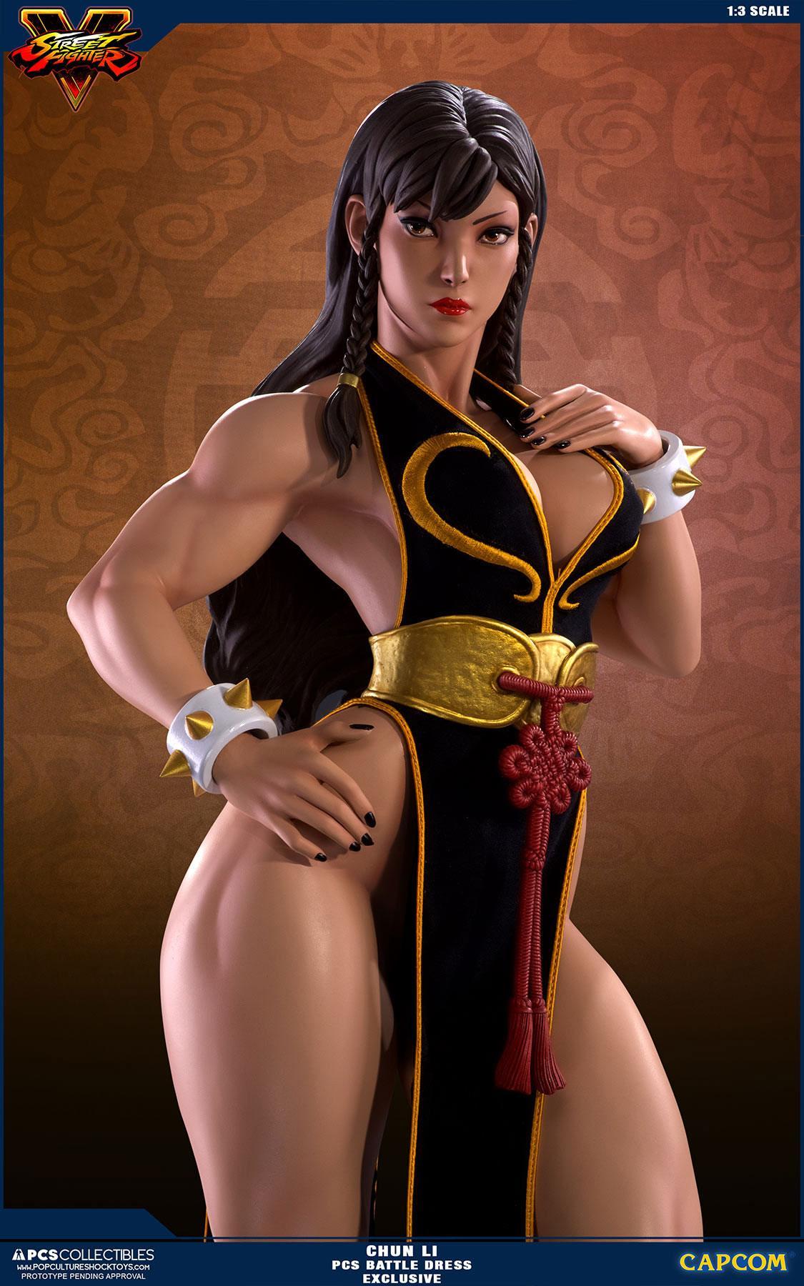 Street Fighter V Statue 1 3 Chun Li Battle Dress Exclusive 73 Cm