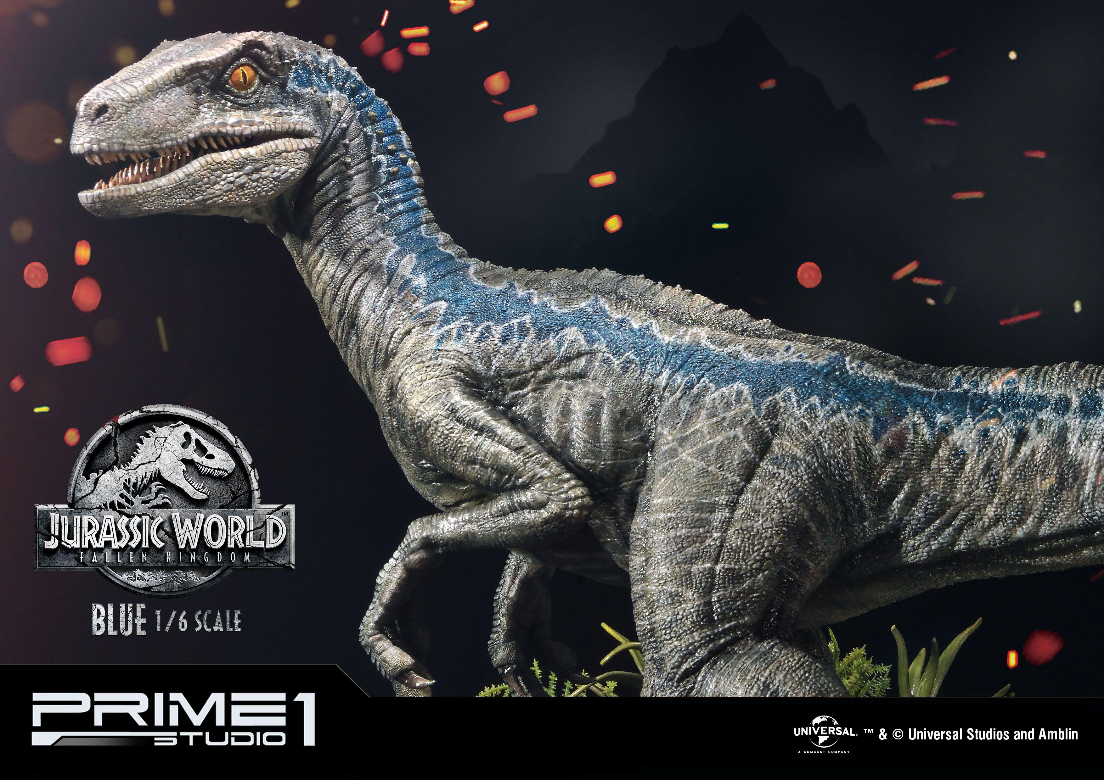 Jurassic World Fallen Kingdom Statue 1 6 Blue 65 Cm