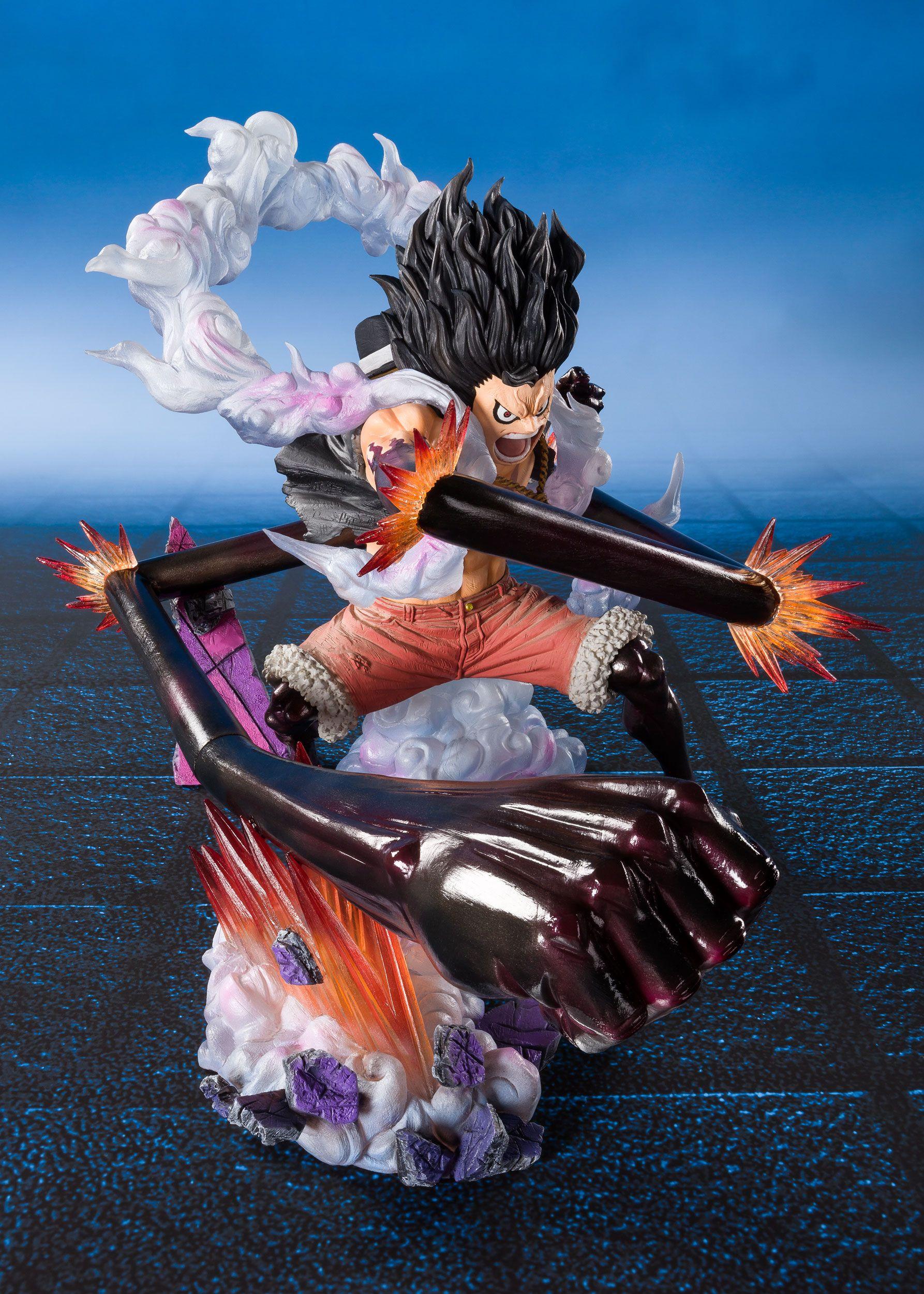 One Piece Figuartszero Pvc Statue Monkey D Luffy Gear 4 Snakeman King Cobra 16 Cm Animegami Store