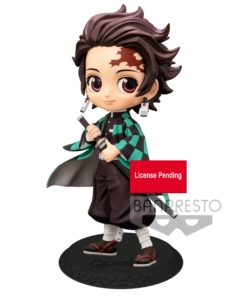Demon Slayer Kimetsu no Yaiba Q Posket Mini Figure Tanjiro Kamado Ver. A 14 cm