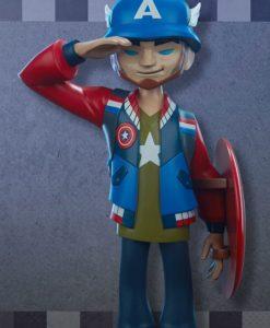 Marvel Designer Series Vinyl Statue Captain America by kaNO 21 cm