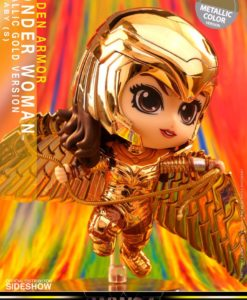 Wonder Woman 1984 Cosbaby (S) Mini Figure Golden Armor Wonder Woman (Metallic Gold Version) 10 cm