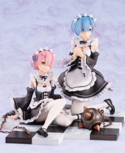 Re:ZERO -Starting Life in Another World- PVC Statue 1/8 Rem & Ram Special Stand Complete Set 16 cm