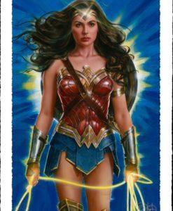 DC Comics Art Print Wonder Woman: Lasso of Truth 46 x 61 cm - unframed