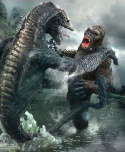 Kong Skull Island Deform Real Series Statues Kong vs Skull Crawler Deluxe Version 32 cm