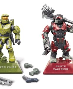 Halo Infinite Mega Construx Pro Builders Construction Set Master Chief vs. Brute Warrior