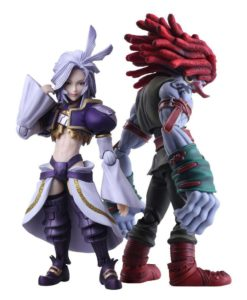 Final Fantasy IX Bring Arts Action Figures Kuja & Amarant Coral 16 - 18 cm