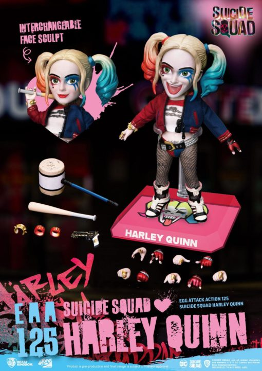 Suicide Squad Egg Attack Action Action Figure Harley Quinn 17 cm