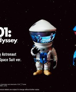 2001: A Space Odyssey Artist Defo-Real Series Soft Vinyl Figures DF Astronaut Silver & Blue Ver.