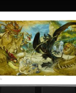 How to Train Your Dragon Art Print Ecto-1 46 x 61 cm - unframed